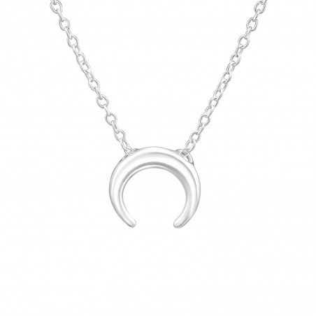 Moon necklace - real silver